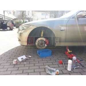 Bremssattellack Set - Rossorot Glanz