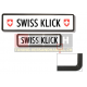 Swissklick - Nummernrahmen Langformat schwarz