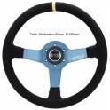 SPARCO Tuning Lenkrad Monza 350mmWildleder schwarz, Speichen blau, geschüsselt 65mm