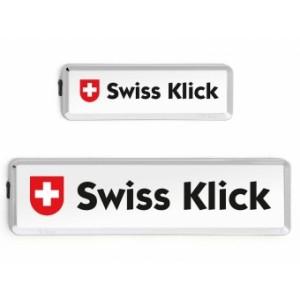 Swissklick - Nummernrahmen Langformat Chrom glanz
